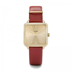 Montre CLUSE CL60009 - La garçonne gold scarlet red