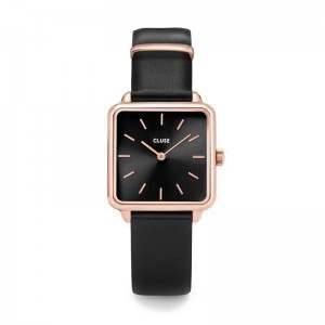 Cluse - Watch CLUSE - The Tetragon Rose Gold Black / Black