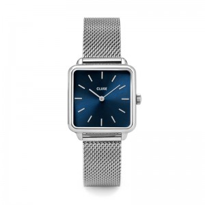 Cluse - Watch CLUSE - The Tetragon Silver Navy Blue