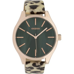 Montre Oozoo Timepieces C9792 light green leopard - Marque de montre Oozoo