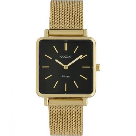 Montre Oozoo Timepieces C9845 vintage gold/black - Marque Oozoo