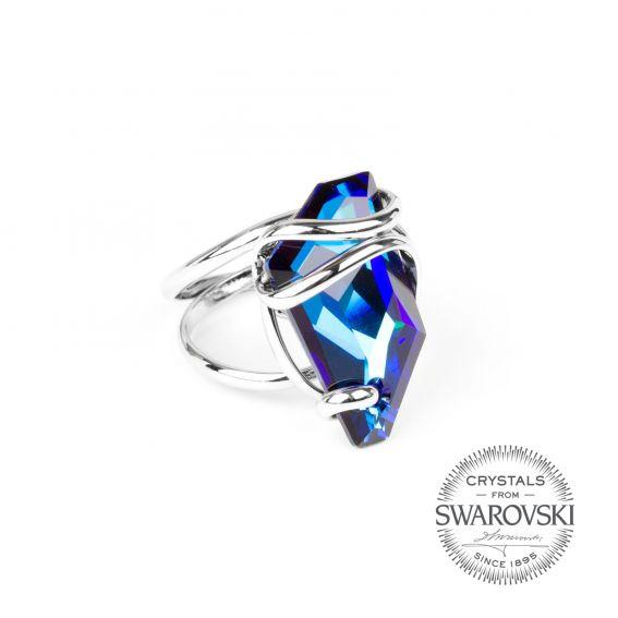 Andrea Marazzini bijoux - Bague cristal Swarovski bleu saphir