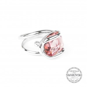 Marazzini - Swarovski crystal rose ring