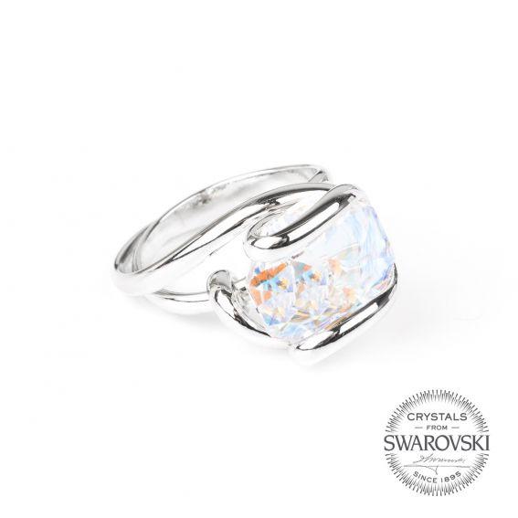 Marazzini - Swarovski crystal ring AB