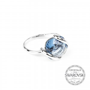 Marazzini - Swarovski crystal denim ring