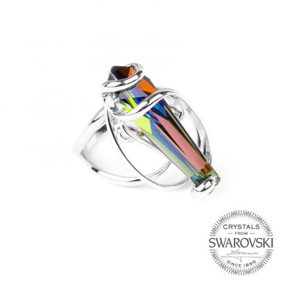 Marazzini - crystal ring STALATTITE Swarovski