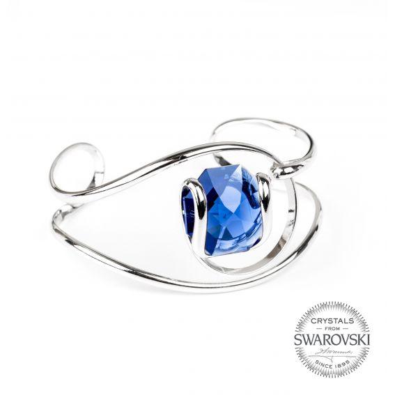 Andrea Marazzini bijoux - Bracelet cristal Swarovski bleu profond