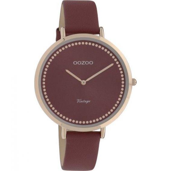 Montre Oozoo Timepieces C9851 bordeaux - Montre de la marque Oozoo
