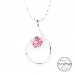 Marazzini - Swarovski crystal rose necklace