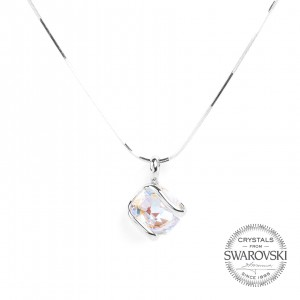 Marazzini - mini Swarovski crystal necklace AB
