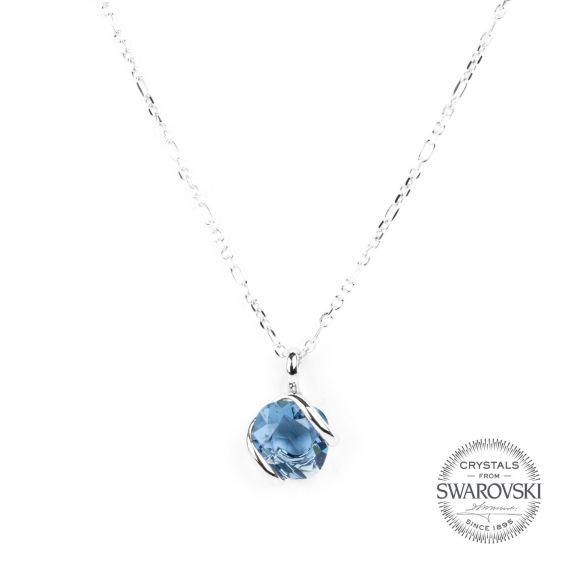 Marazzini - Swarovski crystal necklace denim mini