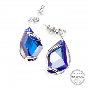 Marazzini - Swarovski blue crystal earrings