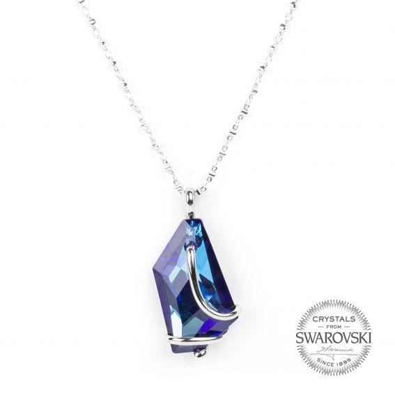 Collier Andrea Marazzini - Bijoux cristal Swarovski bleu
