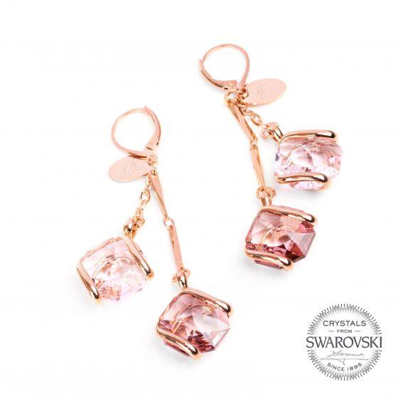 Boucles d'oreille Andrea Marazzini - Cristal Swarovski rosé
