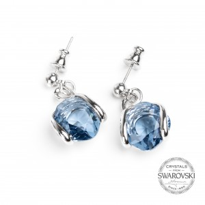 Marazzini - Earrings Swarovski crystal denim