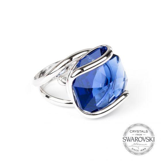 Andrea Marazzini bijoux - Bague cristal Swarovski bleu foncé