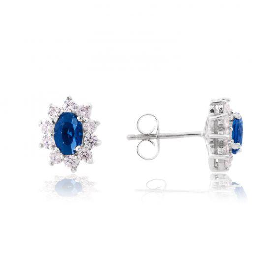 Bijou en argent - Diana sapphire blue Drills