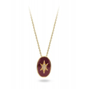 Mya Bay - Star Necklace North glazed burgundy