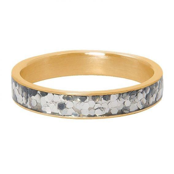Anneau couvrant iXXXi Glitter confetti doré - Bijoux marque iXXXi