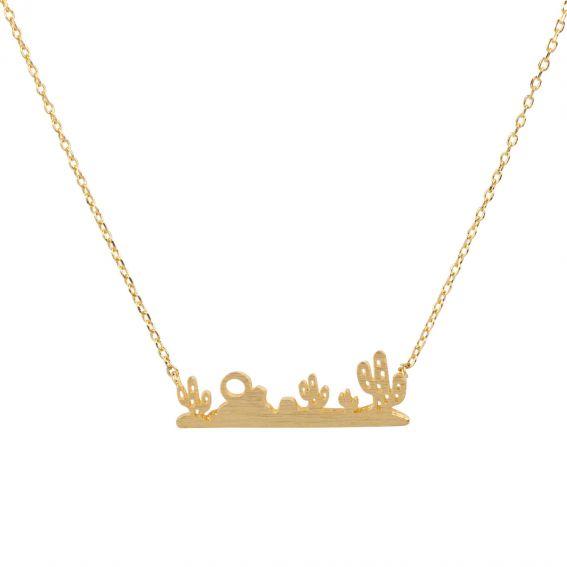 Collier 7bis Paysage désert doré - Bijoux & Collier de marque 7bis