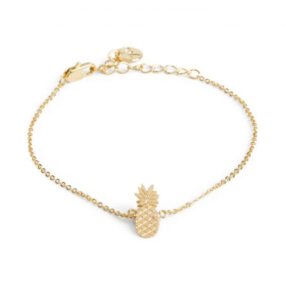 Bracelet 7bis ananas doré - Bijoux et bracelets de la marque 7bis