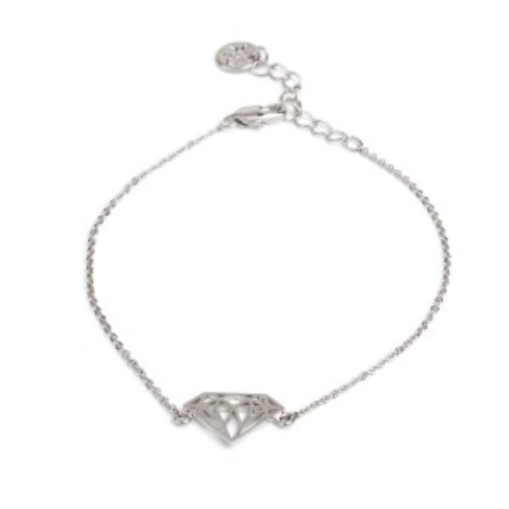 Bracelet 7bis diamant argenté - Bijoux et bracelet de marque 7bis