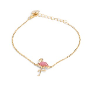 7bis - gold enamel flamingo