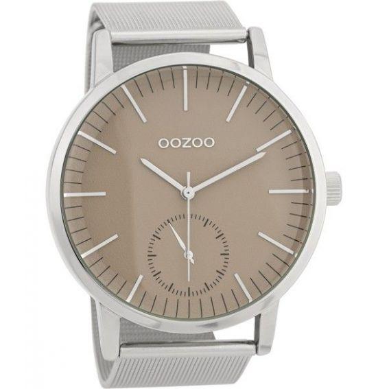 Montre Oozoo Timepieces C9621 silver/taupe - Montre de la marque Oozoo
