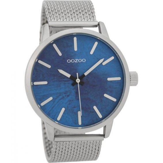 Montre Oozoo Timepieces C9656 silver/blue - Montre de la marque Oozoo