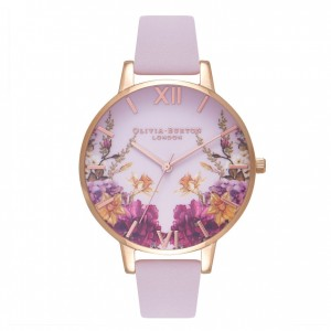 Montre rose poudré et or rose Enchanted Garden - Montre (watch) Olivia Burton
