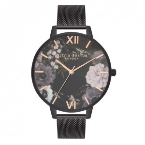 Montre IP à bracelet milanais Marble Florals After Dark - Montre (watch) Olivia Burton