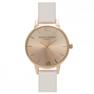Olivia Burton - Watch white powder gold and middle dial