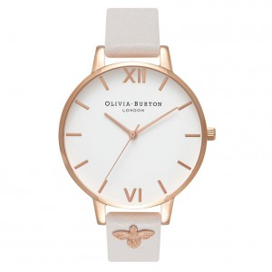 Olivia Burton - Watch powdery white and rose gold 3D Bee