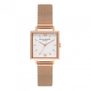 Olivia Burton - Milanese Strap Watch rose gold dial and big