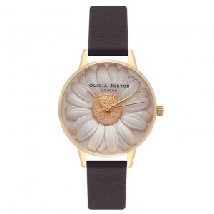 Montre noir et or 3D Daisy - Montre (watch) Olivia Burton
