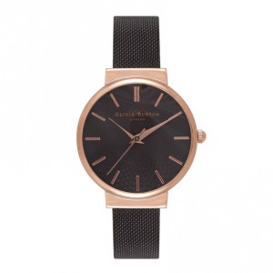 Olivia Burton - Watch pink and black gold to white via dial