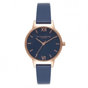 Montre bleu nuit et or rose - Montre (watch) Olivia Burton