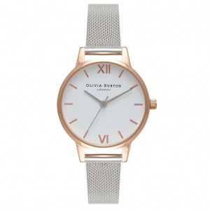 Olivia Burton - Milanese Strap Watch rose gold and silver and