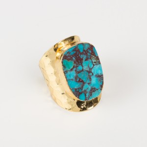 Bypa - multi turquoise stone ring
