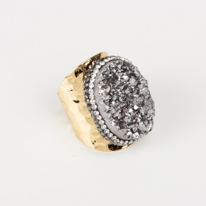 Bypa - silver stone ring