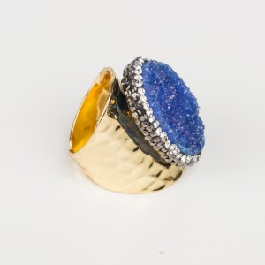 Bypa - blue stone ring
