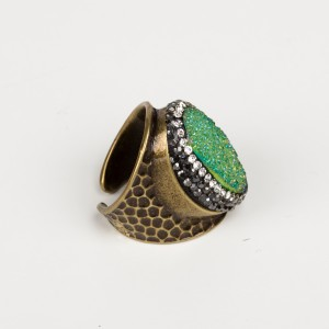 Bypa - Green Stone Ring