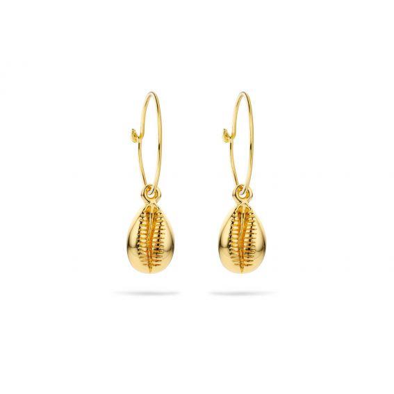 Boucles d'oreille Cauris doré, BO-60 - Bijoux et marque Mya Bay