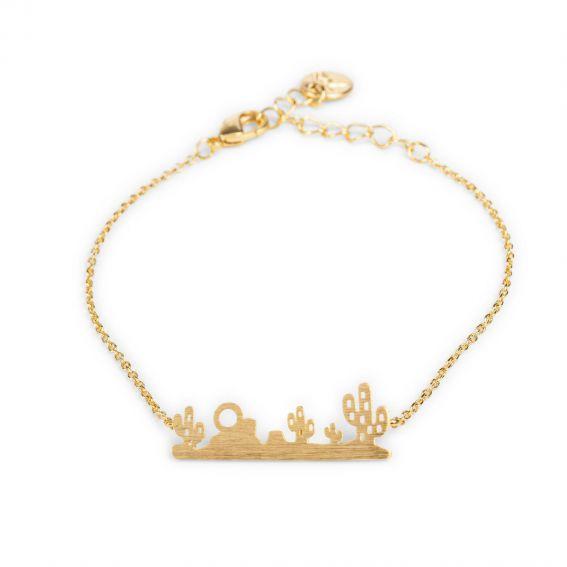 Bracelet 7bis Paysage désert doré - Bijoux et bracelet de marque 7bis