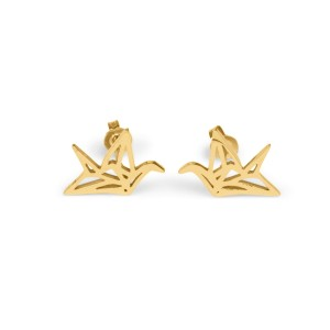 7bis - Origami golden bird - Stainless Steel