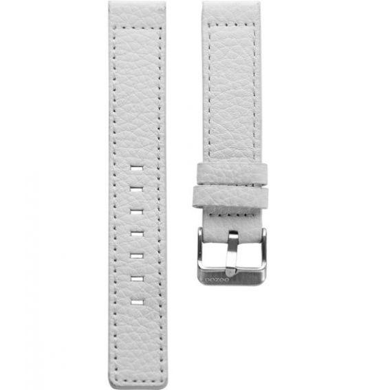 1.24 - white 24 mm. - Bracelet pour montre Oozoo