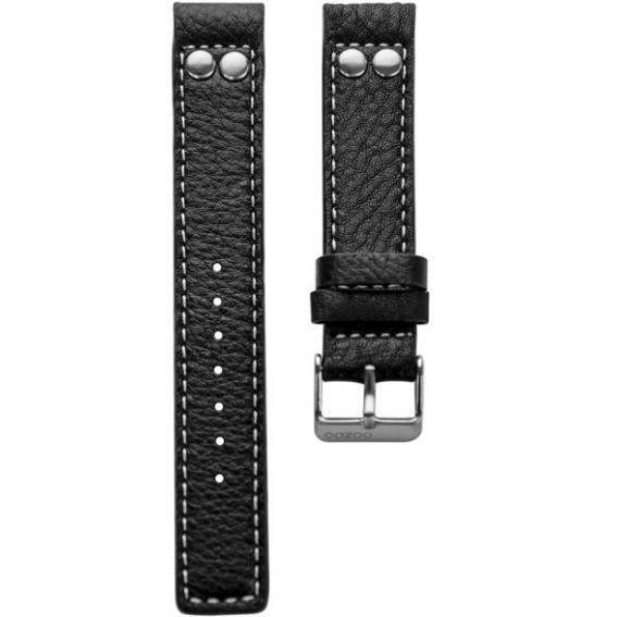 10.22 - black studs 22 mm. - Bracelet pour montre Oozoo