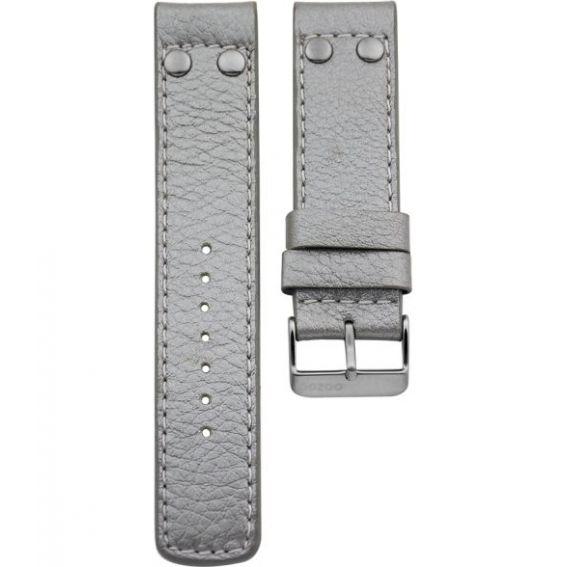 100.22 - metalic silver studs 22 mm. - Bracelet pour montre Oozoo