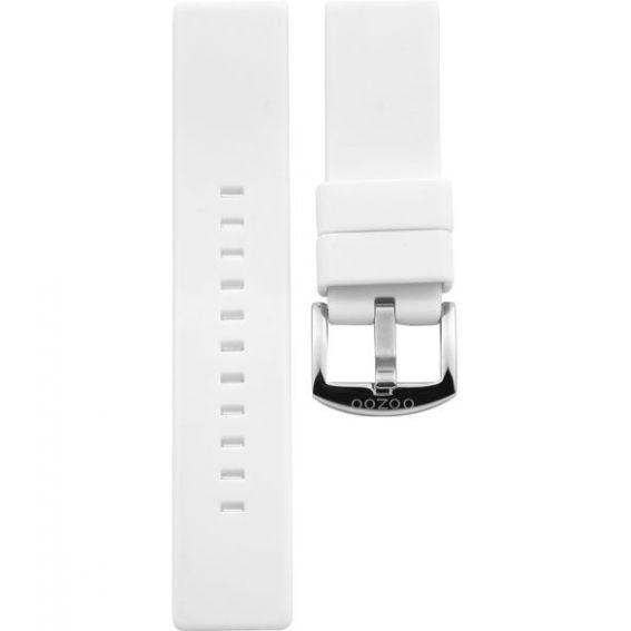 101.22 - white rubber 22 mm. - Bracelet pour montre Oozoo