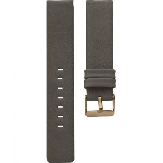 107.18 - elephant grey 18 mm. - Bracelet pour montre Oozoo